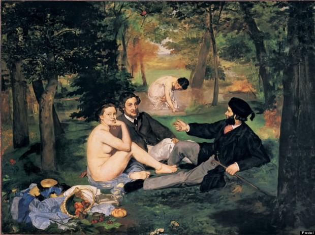 Edouard Manet Le Dejeuner sur l'Herbe (1863)-MANET-900